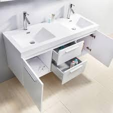 54 inch double sink vanity. virtu usa midori 54 inch double sink white bath vanity 8