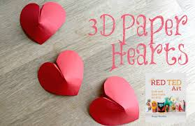 on 3d paper heart wall art with paper crafts diy 3d paper hearts how to youtube