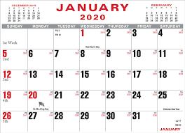 2020 52 Calendar Pad Memo Pad