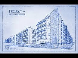 Architectural design blueprint House Photoshop Tutorial How To Transform Photo Into An Architects Blueprint Drawing Youtube Photoshop Tutorial How To Transform Photo Into An Architects