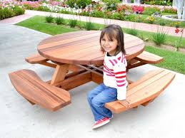 kid 039 s round picnic table set built to last decades