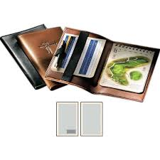 custom logo leather golf scorecard holder image for gallery