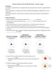 Chapter 7 Ionic And Metallic Bonding Workbook Answers Chapter 8 3 Ionic And Metallic Bonds
