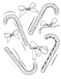 Small Picture Printable candy cane coloring page Free PDF download at http