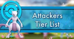 Attackers Tier List Pokemon Go Wiki Gamepress