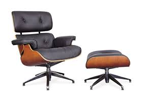 Eames inspired office chair Beautiful Office Glass Office Systems Eames Inspired Lounge Chair With Ottomon