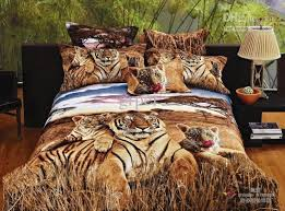 3d Siberian Tiger Print Bedding forter Set Queen Size Bed Linen
