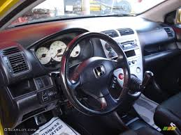 Black Interior 2002 Honda Civic Si Hatchback Photo #50988069 ...
