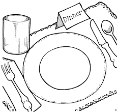 kitchen table clipart black and white. plate cliparts black #2889596 kitchen table clipart and white p