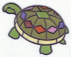 embroidery designs at library stained glass turtle pattern