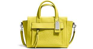 Lyst - Coach Bleecker Mini Riley Carryall in Leather in Green