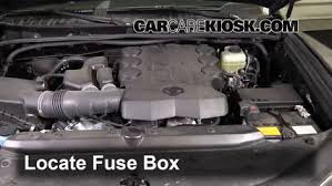 blown fuse check toyota runner toyota runner locate engine fuse box and remove cover