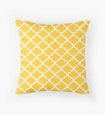 moroccan throw pillows. Mustard Yellow White Quatrefoil Pattern Throw Pillow Moroccan Pillows