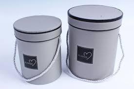 Набор подарочных коробок из 2 шт- Цилиндр с окантовкой ...