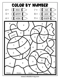 Coloring pages for learning numbers and colors for preschool and kindergarten. Christmas Color By Number Printables Crafty Morning