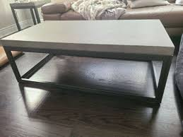 concrete top coffee and end table set