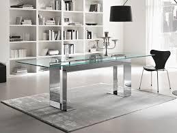 Nella Vetrina Tonelli Miles Contemporary Italian Glass Dining Table