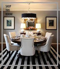 this room a striped dining room