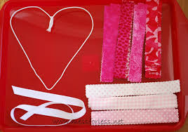 valentine wreaths for your front doorValentines Idea Fabric Wreath  Mess for Less