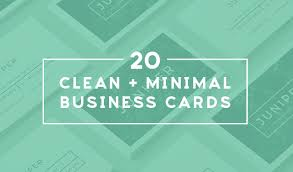Names Of Cleaning Businesses 20 Clean And Minimal Business Cards That Stand Out Creative Market