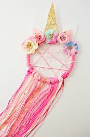 these adorable unicorn dreamcatchers make a fun unicorn party craft or playdate activity we plan on making lots of them at my daughter s upcoming unicorn