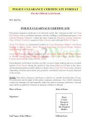 Clearance Certificate Sample 8 Police Clearance Certificate Templates Free Printable