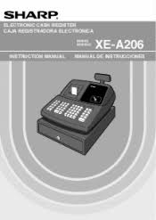 sharp xe a206. sharp xe-a206 operation manual in english and spanish xe a206 a