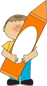 orange clipart png. boy with orange crayon clipart png
