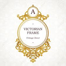 victorian frame design. Vector Golden Frame In Victorian Style. Ornate Element For Design. Place Company Name Design