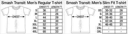 Slim Fit T Shirt Size Chart Fitness And Workout