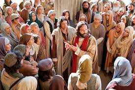 Image result for jesus preaching to the crowd