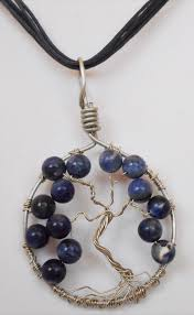 ectp119 handmade wire wrapped tree of life pendant sodalite