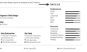 Resume Tutorial Modern Skills Section Photoshop