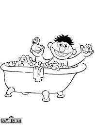 bathtub fun coloring page ernie in the bath tub sesame street coloring page