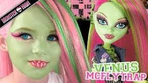 06 05 venus mcflytrap monster high doll costume makeup tutorial for cosplay or