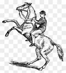 horse riding clipart black and white. Beautiful Riding Man Riding A Horse Animal Free Black White Clipart  Draw Person  Intended And E