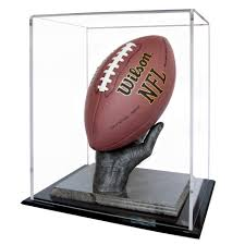football display hand along with custom acrylic case ball not included