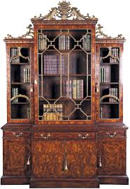 Chippendale Furniture Chippendale Style Bookcase Glazed Bookcases Display Cabinets
