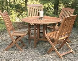 patio round wood patio table 7 piece wood outdoor dining set rustic round wooden dining