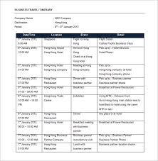Business Trip Agenda Template Trip Agenda Template Under Fontanacountryinn Com