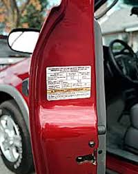 car door jamb. Check Your Door-jamb For Tire And Inflation Information Car Door Jamb