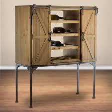 Crystal Art Gallery Rustic Wood Wine Rack Barn Door Glassware ...