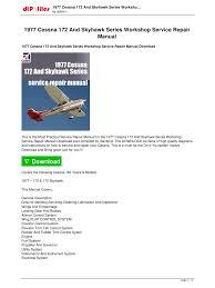cessna 172 wiring diagram manual wiring diagrams 1977 cessna 172 and skyhawk work service repair manual