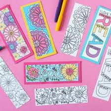 Mark your spot in the book you're reading with our printable bookmark templates. Free Printable Coloring Page Bookmarks Dawn Nicole