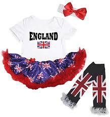 Amazon Com Petitebella England Union Jack White Bodysuit