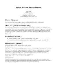 Examples Of Medical Resumes Impressive Medical Office Resume Samples Feat Construction Administrative