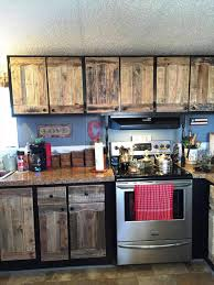 Pallet Kitchen Furniture Kitchen Cabinets Using Old Pallets