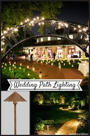 wedding path lighting