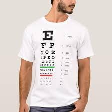 Snellen Eye Chart Basic T Shirt