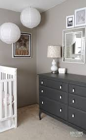 grey nursery dresser. Beautiful Grey White Crib Taupe Walls Perfect Taupeu0027 By Behr And Dark Grey Dresser Iu0027d  Add Navy Blue Pom Poms Mixed In With White Red Throughout Grey Nursery Dresser D